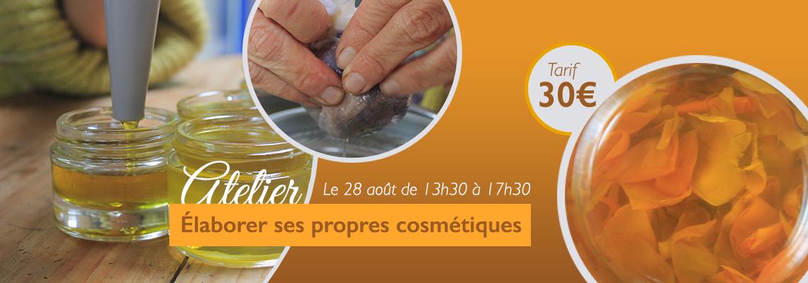atelier-cosmetique à la Chappelle Neuve Morbihan