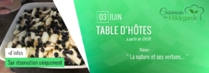 Table d'hôtes -cuisinons no sjardins