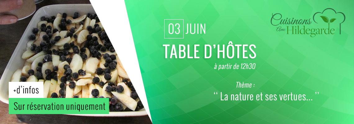 Table d'hôtes -cuisinons no sjardins